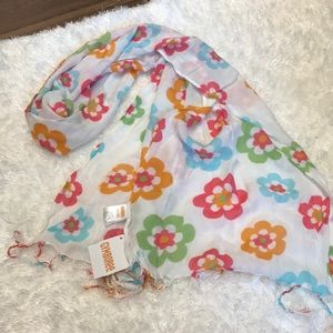 NWT Gymboree Soft Floral Summer Scarf